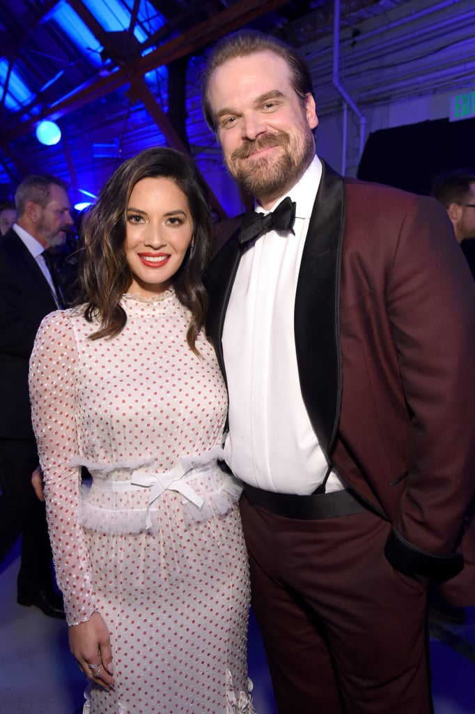 Pictured: Olivia Munn and David Harbour