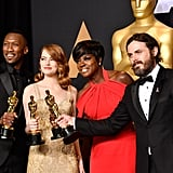Pictured: Viola Davis, Emma Stone, Casey Affleck, and Mahershala Ali