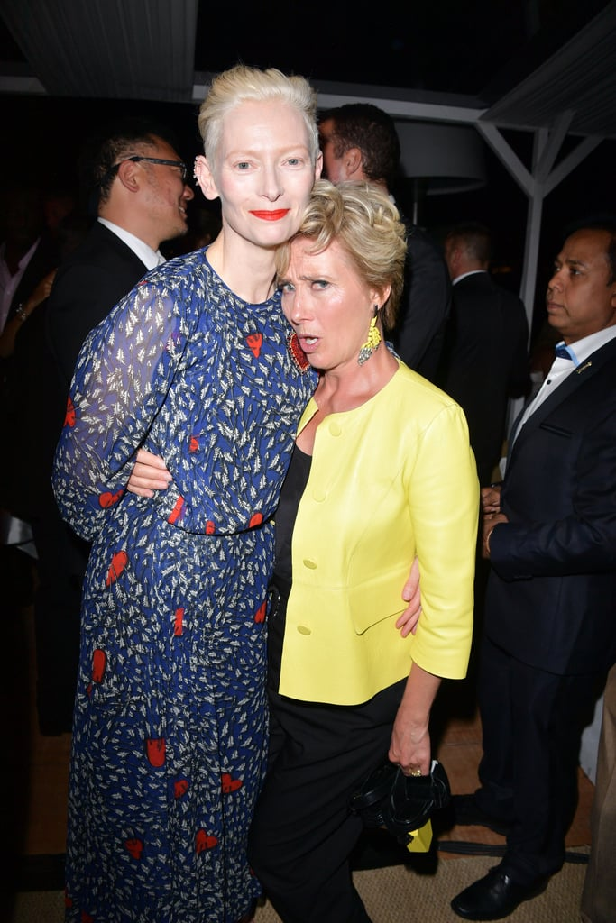 With Tilda Swinton