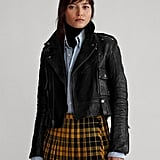 Ralph Lauren x Friends Cropped Leather Moto Jacket