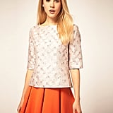 Play up the boxy, ladylike look with flirty separates. ASOS Shell Top With Printed Jacquard ($58)