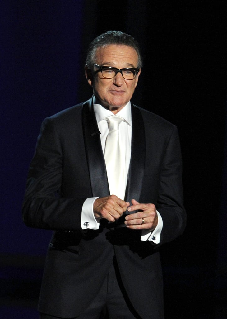 Robin Williams gave a thoughtful tribute to Jonathan Winters.