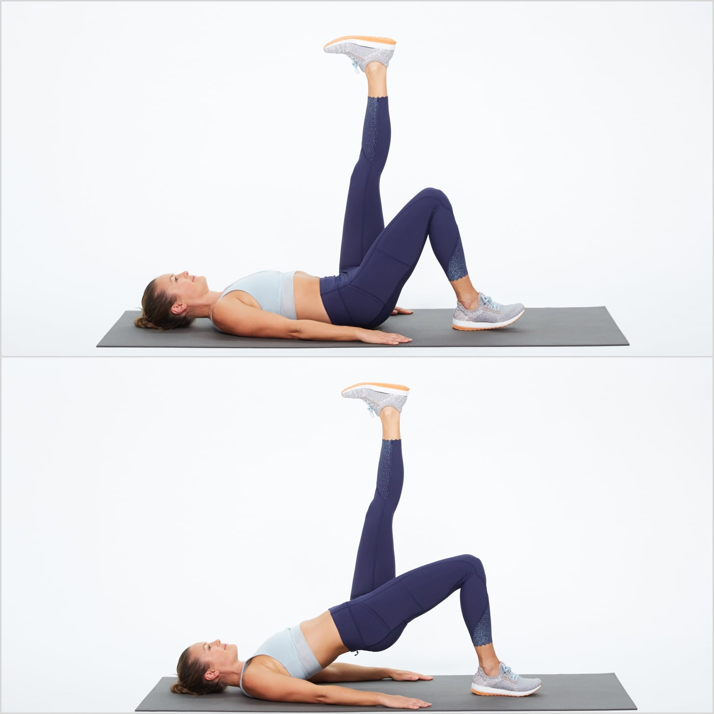 Image result for single leg bridge