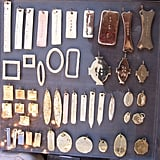 The tags are always the basis for most necklaces we do. These are the original dog tags. — Jennifer Fisher
