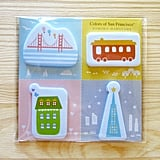 Show off your love for the City by the Bay with San Francisco page markers ($6) that feature city icons.