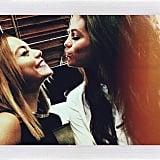Vanessa Hudgens and Selena Gomez reunited on the Chelsea Lately show. Source: Instagram user selenagomez
