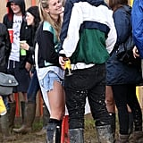 Cressida Bonas hung out with actor Will Poulter at Glastonbury.