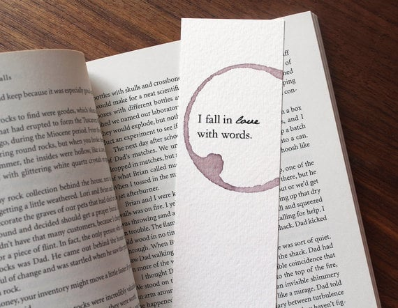 I Fall in Love With Words Bookmark