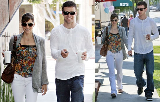 Photos of Justin Timberlake and Jessica Biel Out in Los Angeles; Justin's William Rast Line Will Be Shown at NY Fashion Week