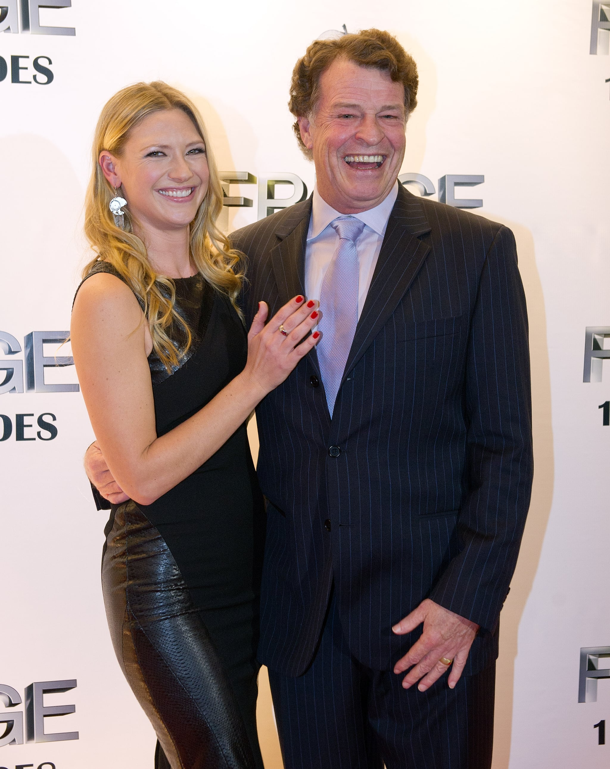 John Noble and Anna Torv smiled at the event. | Joshua ...