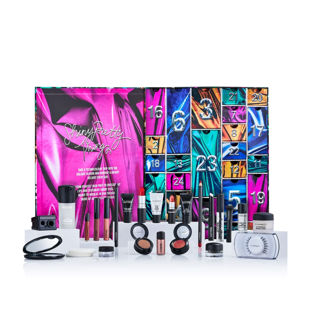 MAC Cosmetics released its first-ever Advent calendar, and while it's only currently available in the UK, we're hopeful the release signals a future launch here stateside. As part of its Shiny Pretty Things holiday range, MAC Cosmetics UK unveiled the calendar, which includes a product for each day leading up to Christmas.  At £125, or $163, the 24-product calendar consists of favorites from the brand likes its Ruby Woo Lipstick, Strobe Cream, Dazzleshadow, and several tubes of Lip Glass. The calendar was so popular that it sold out in a day after launching on Oct. 18, however, MAC is currently planning on restocking it. Check out the in-demand holiday launch ahead, and shop some of the year's best beauty Advent calendars available to customers in the US.      Related:                                                                                                           25 Incredible Holiday Beauty Gift Sets That Are Worth the Money