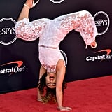 Gymnast Katelyn Ohashi Does Handstand in Heels at ESPYs 2019