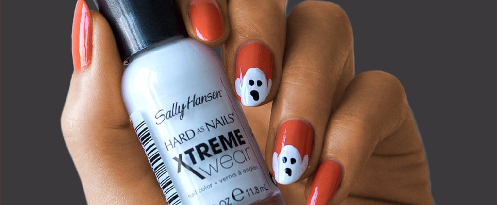 Halloween Ghost Nail Art in 3 Easy Steps From Sally Hansen