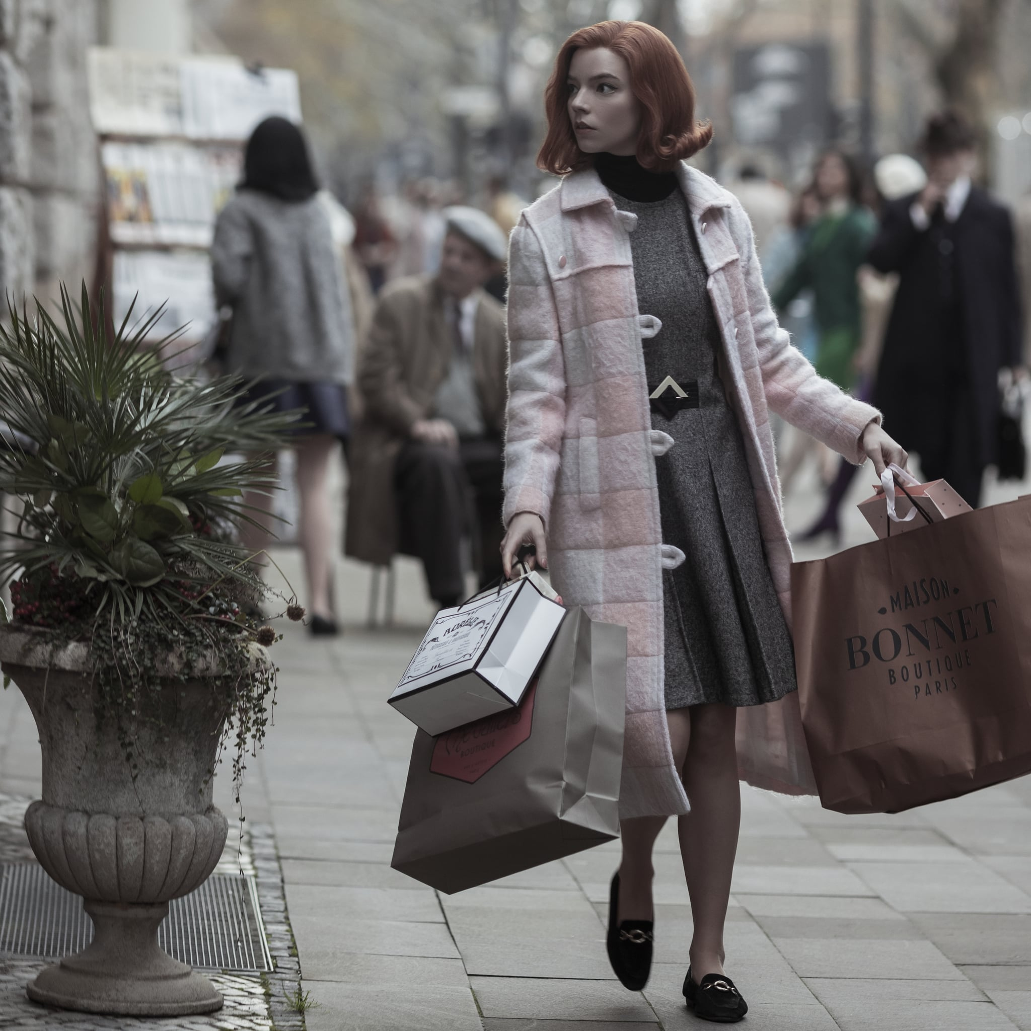 Knitted Pink Wool Blazer for the Fashionable Business Woman Retro Style Ruffled Collared Jacket