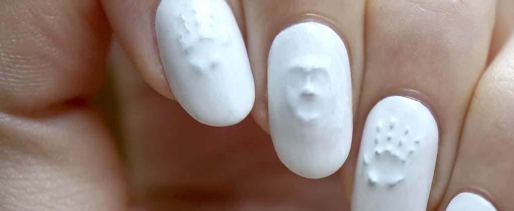 Zoom In on This White Manicure to See a Creepy Halloween Surprise