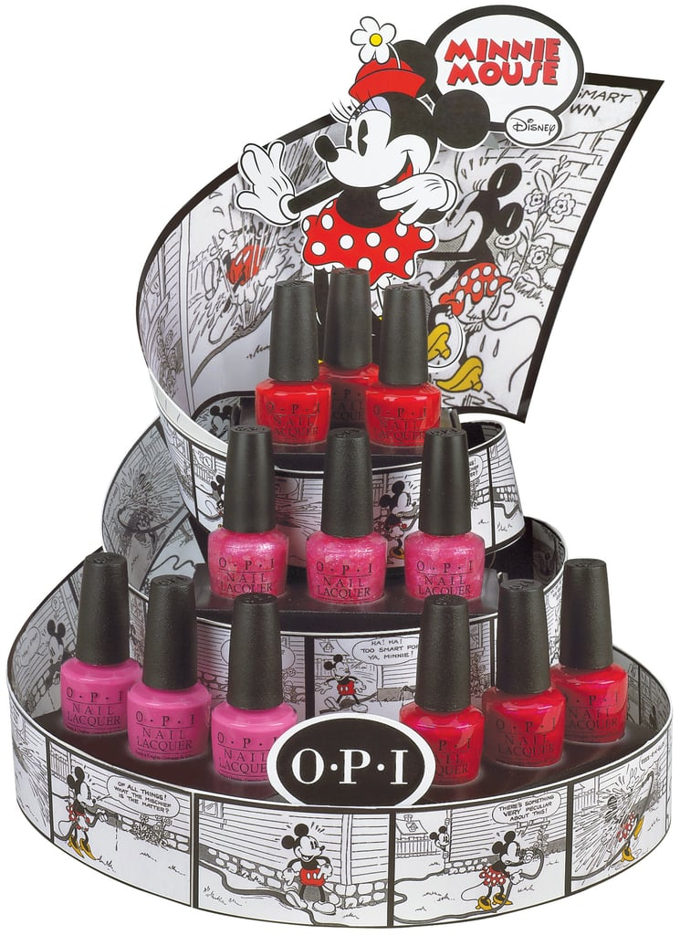 "In honour of one of Disney's most beloved characters, OPI is launching the Minnie Mouse collection later this year. The brand's Executive VP and Artistic Director, Suzi Weiss-Fischmann, says: ""OPI is so excited to collaborate with Disney and draw inspiration from one of the world's most popular characters. This collection brings together the expertise of OPI and the iconic style of Minnie Mouse to inspire the distinct palette of vibrant, feminine shades for summer."" Due to launch in July, the collection features four limited edition pinks and reds, including Nothin' Mousie 'bout It, a pretty confetti pink which will make a great finishing touch."