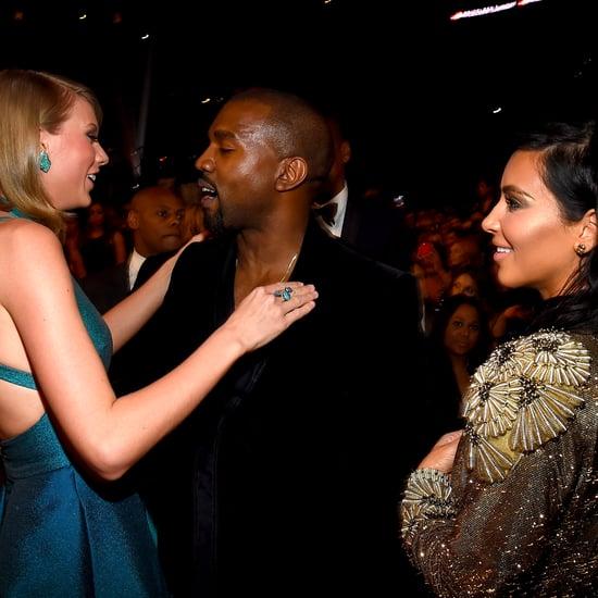 Kim Kardashian Snapchats Kanye West and Taylor Swift Talking
