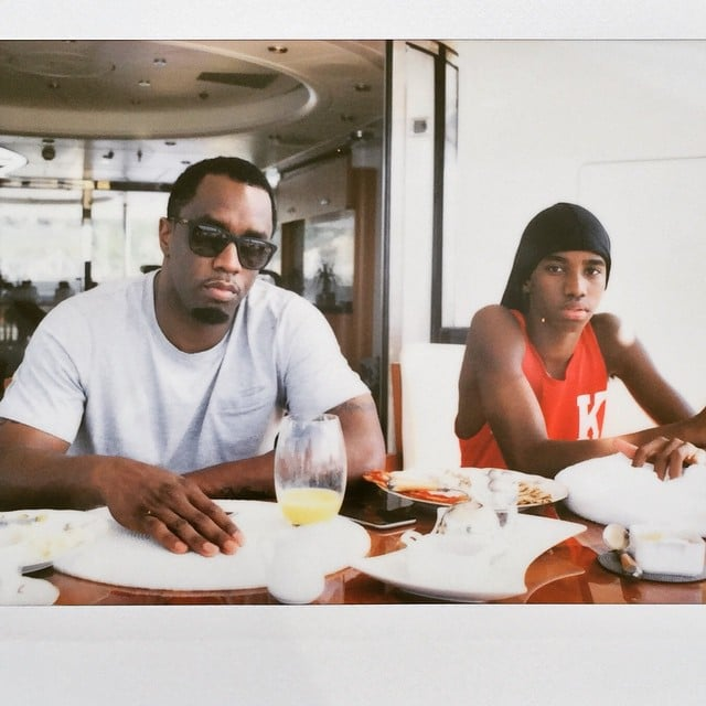 """Diddy shared breakfast with his """"mini ME!"""""""