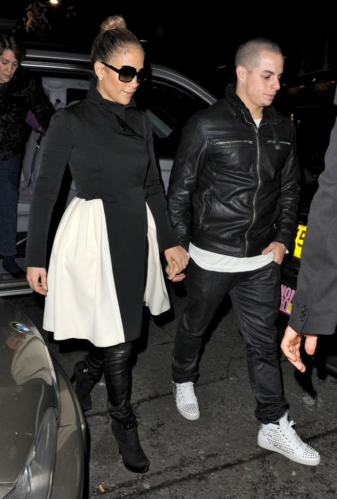 Jennifer Lopez and Casper Smart held hands on their date night out.