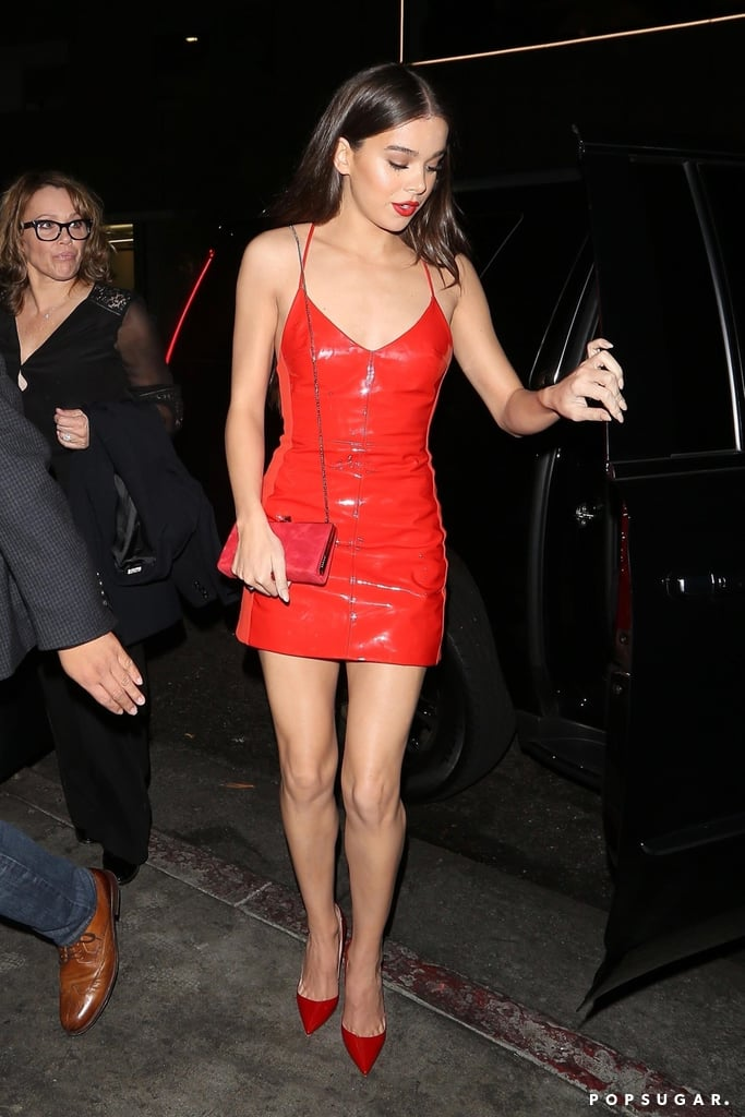 Hailee Steinfeld's Red Dress at 21st Birthday