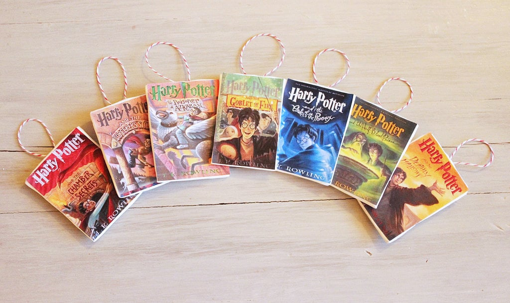 Change Book Cover Diy ~ Harry potter book covers diy ornaments