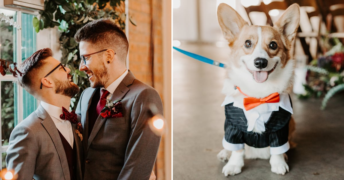 This Couple's Autumn-Themed Wedding Had the Cutest Details, Including a Corgi Ring Bearer!