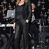 Launching yet another Topshop collaboration in April 2014, Kate added a touch of sparkle to her perfect black suit.