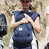 Natalie Portman took Aleph along for a hike in the Hollywood Hills with friends in March 2012.