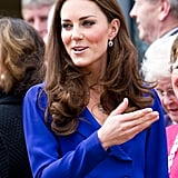 Kate Middleton gave her first public address for the East Anglia Children's Hospice at the Treehouse center in Ipswich, near London.