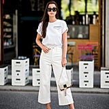 Opt For Cropped Flared White Jeans Instead of Traditional Skinny Jeans