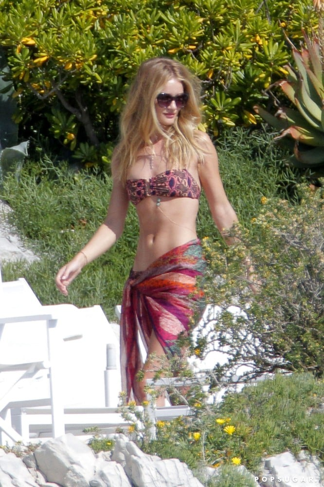 Rosie Huntington-Whiteley rocked a two-piece.