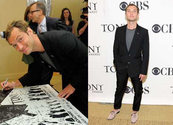 Pictures of Jude Law at 2010 Tony Awards Nominees Event Plus Truth About Jude and Sienna Engagement