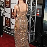 The back was fairly simple; it was lower to reveal a little more skin but felt entirely summery and ladylike.