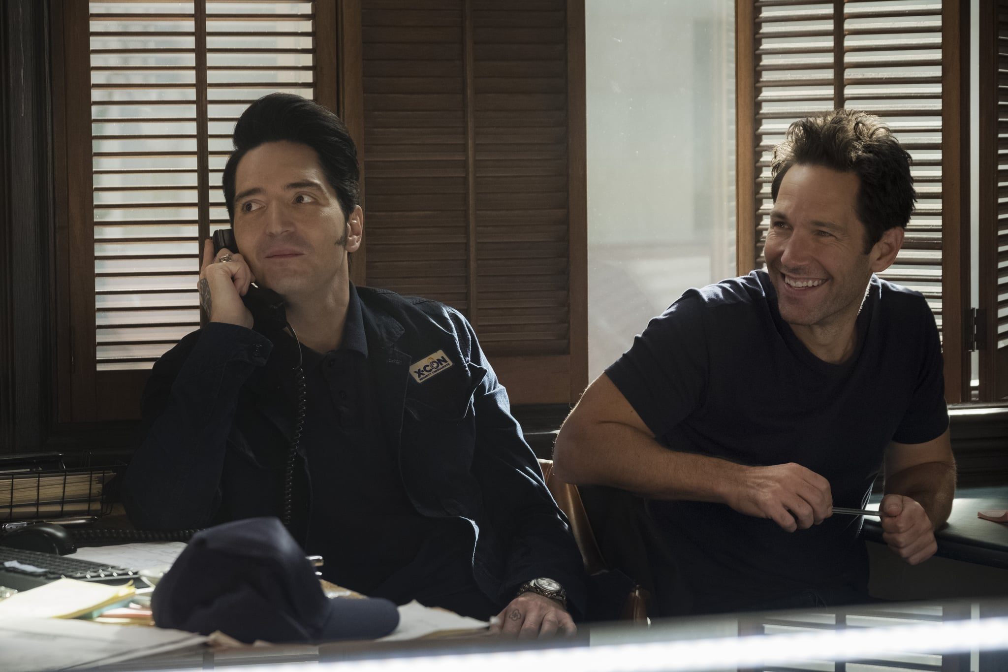 Marvel Studios ANT-MAN AND THE WASP..L to R: Kurt (David Dastmalchian) and Ant-Man/Scott Lang (Paul Rudd) ..Photo: Ben Rothstein..©Marvel Studios 2018