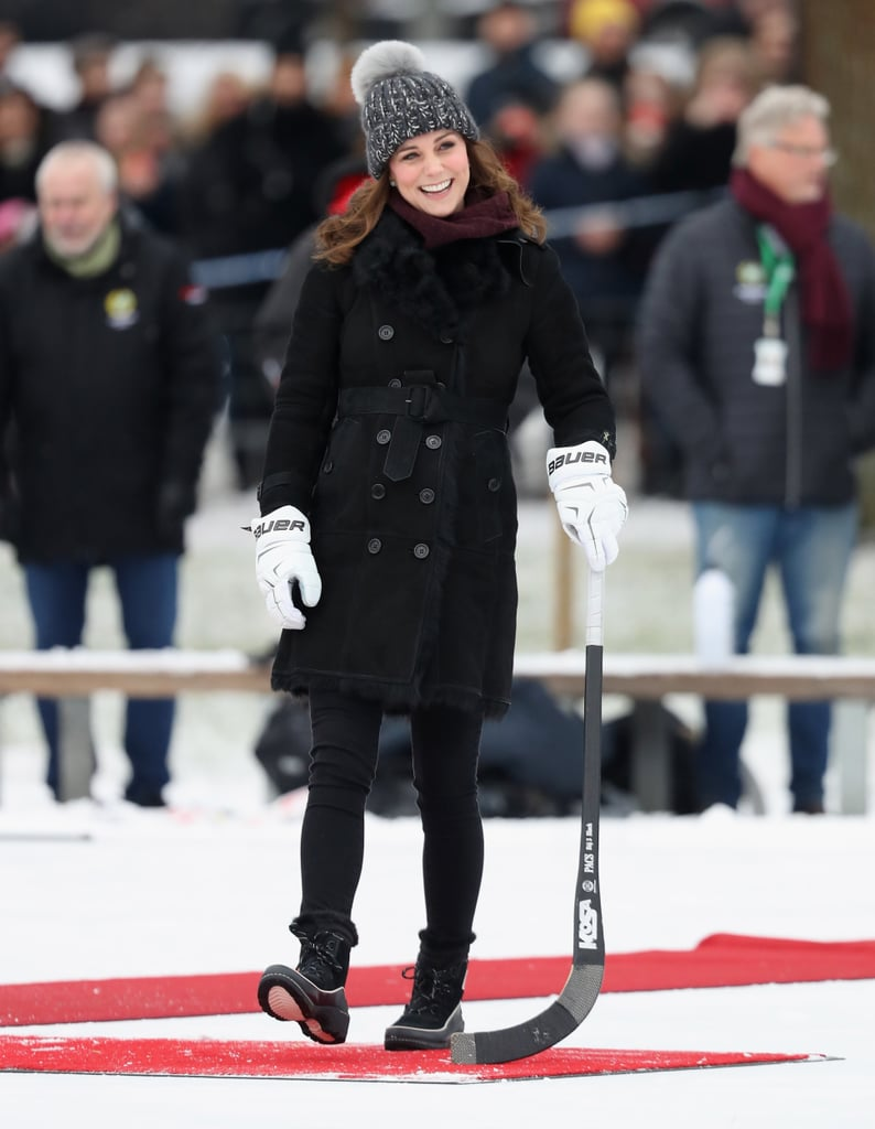 Kate Started Her Tour of Sweden With a Game of Bandy Hockey