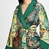 F.R.S For Restless Sleepers Short Robe With Velvet Trim