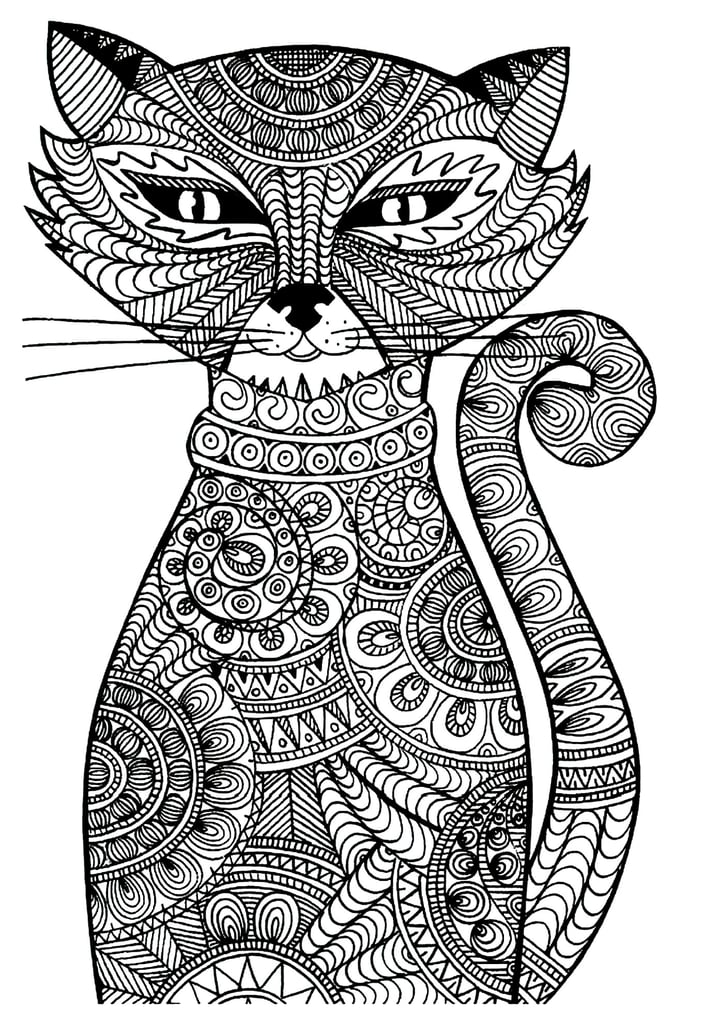 Free Printable Cat Coloring Pages For Kids | 1024x703