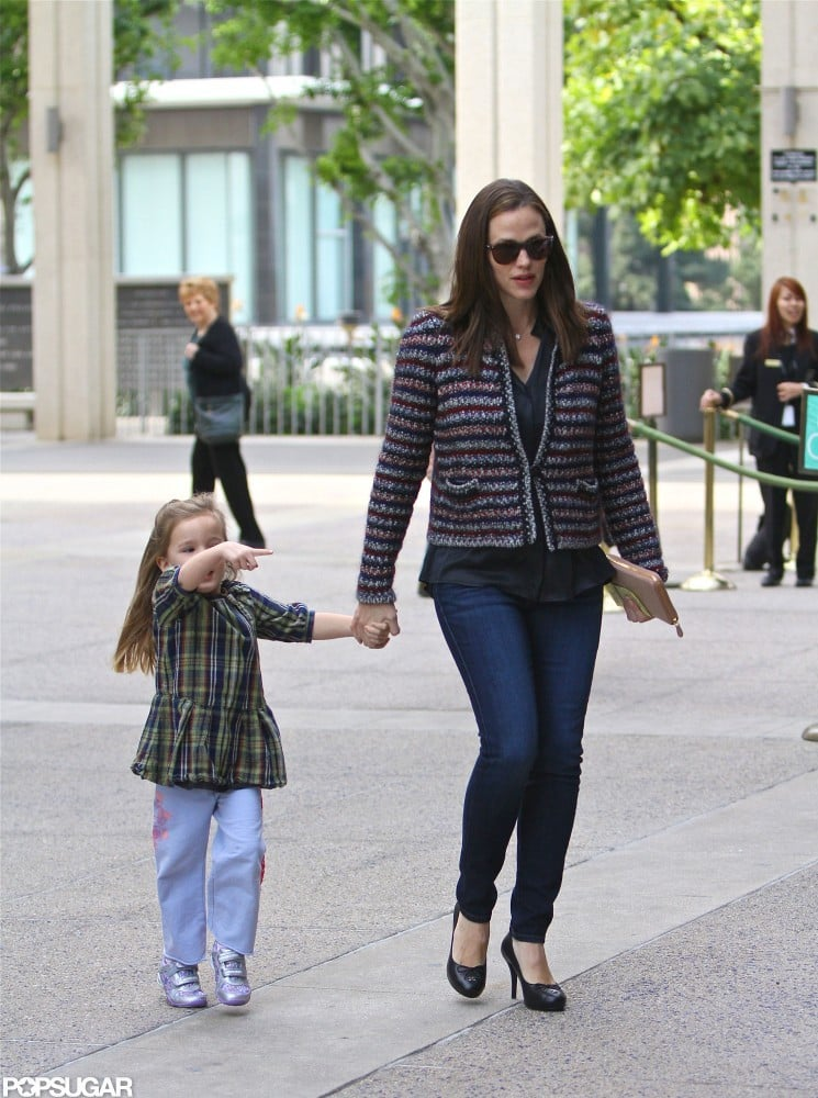 Jennifer Garner and Seraphina Affleck headed to a show together.
