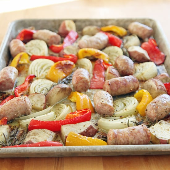 Roasted Italian Sausage, Peppers, and Onions