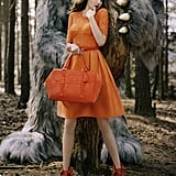 "Lindsey Wixson plays opposite the ""wild things"" in Mulberry's Fall 2012 campaign."