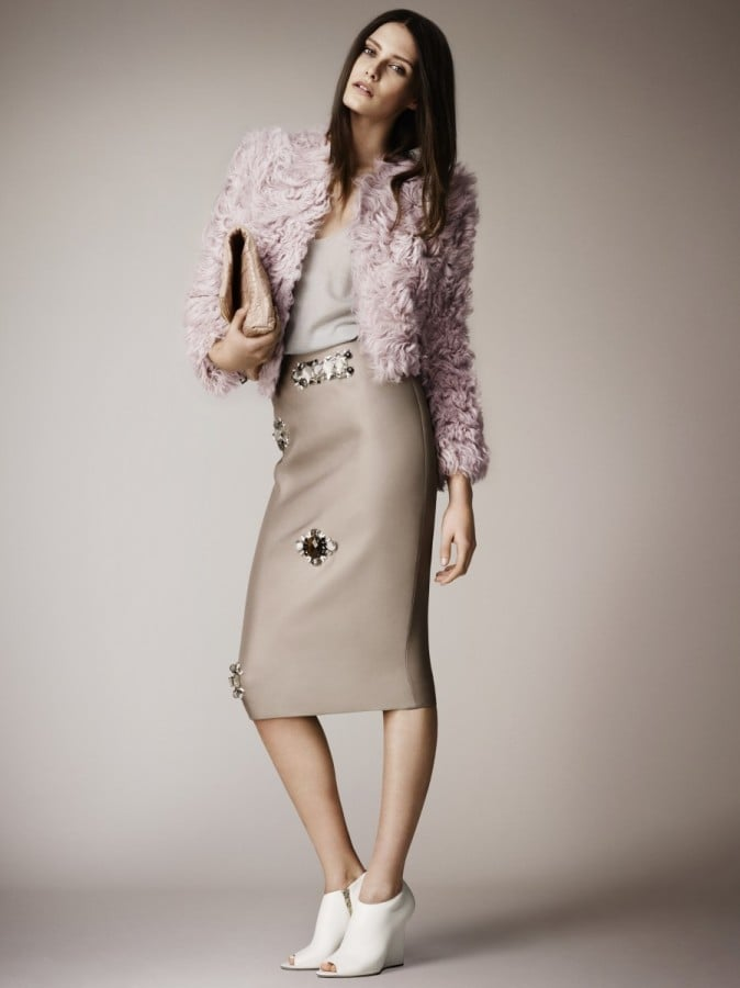 A frothy, needs-to-be-stroked jacket is without a doubt made for the girls. Source: Burberry