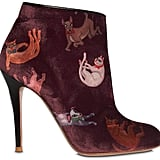 Camilla Elphick's 105mm Raining Cats & Dogs Velvet Boots ($906) might be dark, but they'll stand out for a mile.