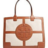Tory Burch Ella Quardrant Canvas & Leather Tote