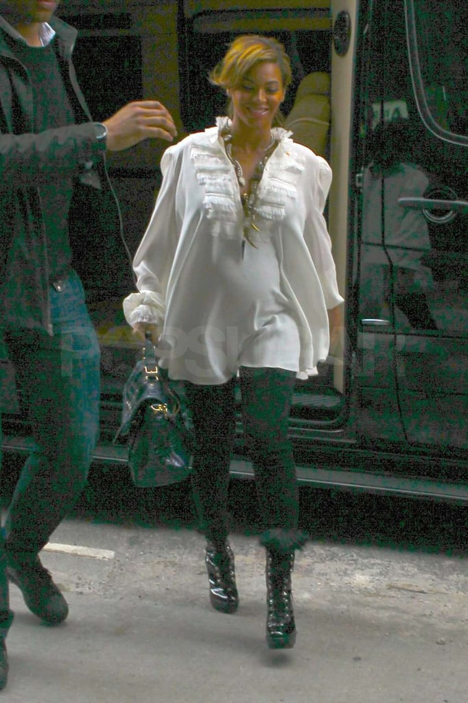 Beyoncé Knowles was out and about in NYC.