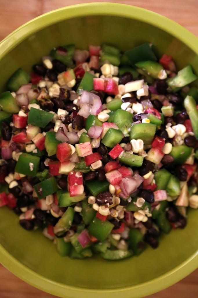 Black Bean, Corn, and Radish Salad