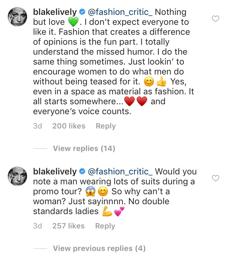 Blake's Comments
