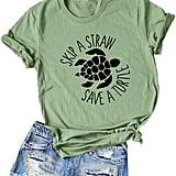 Skip a Straw Save a Turtle Shirt