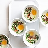 Baked Eggs With Mushrooms and Broccolini