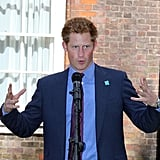 Prince Harry hosted a reception for school game athletes in London.