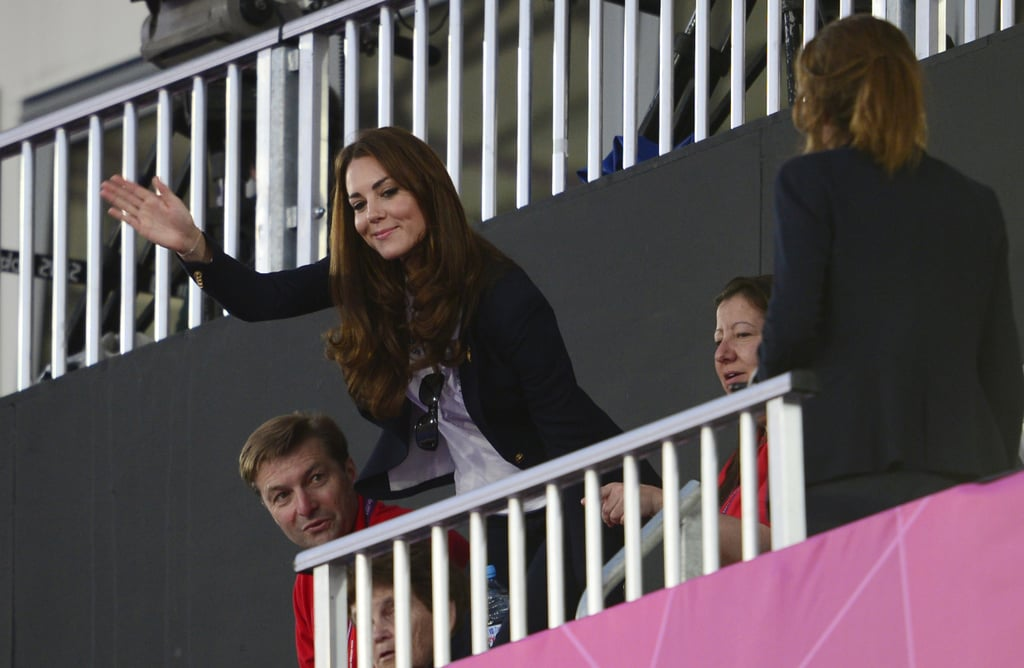 Kate was rooting for Team GB as they took on Argentina in the women's hockey semifinal.